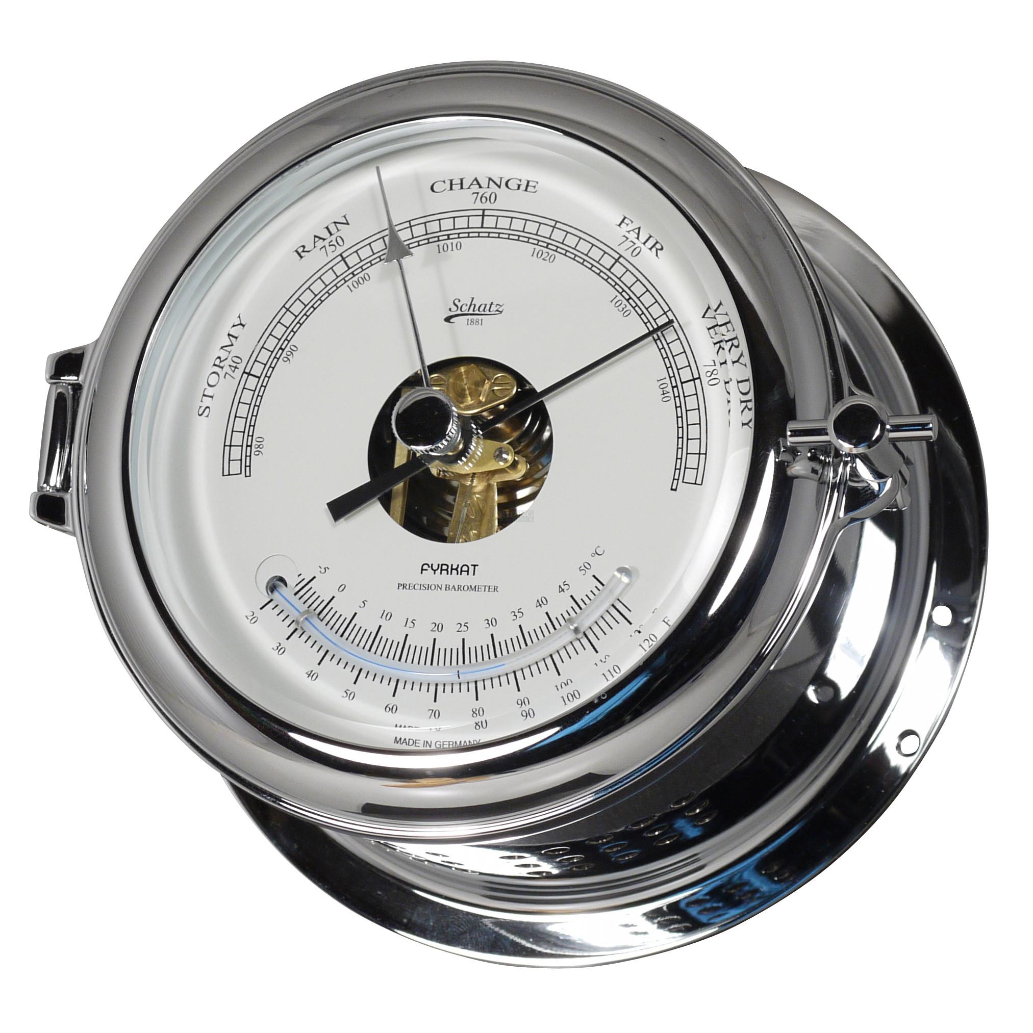 """Schatz Fyrkat Baro-/termometer 4"""" skive"""