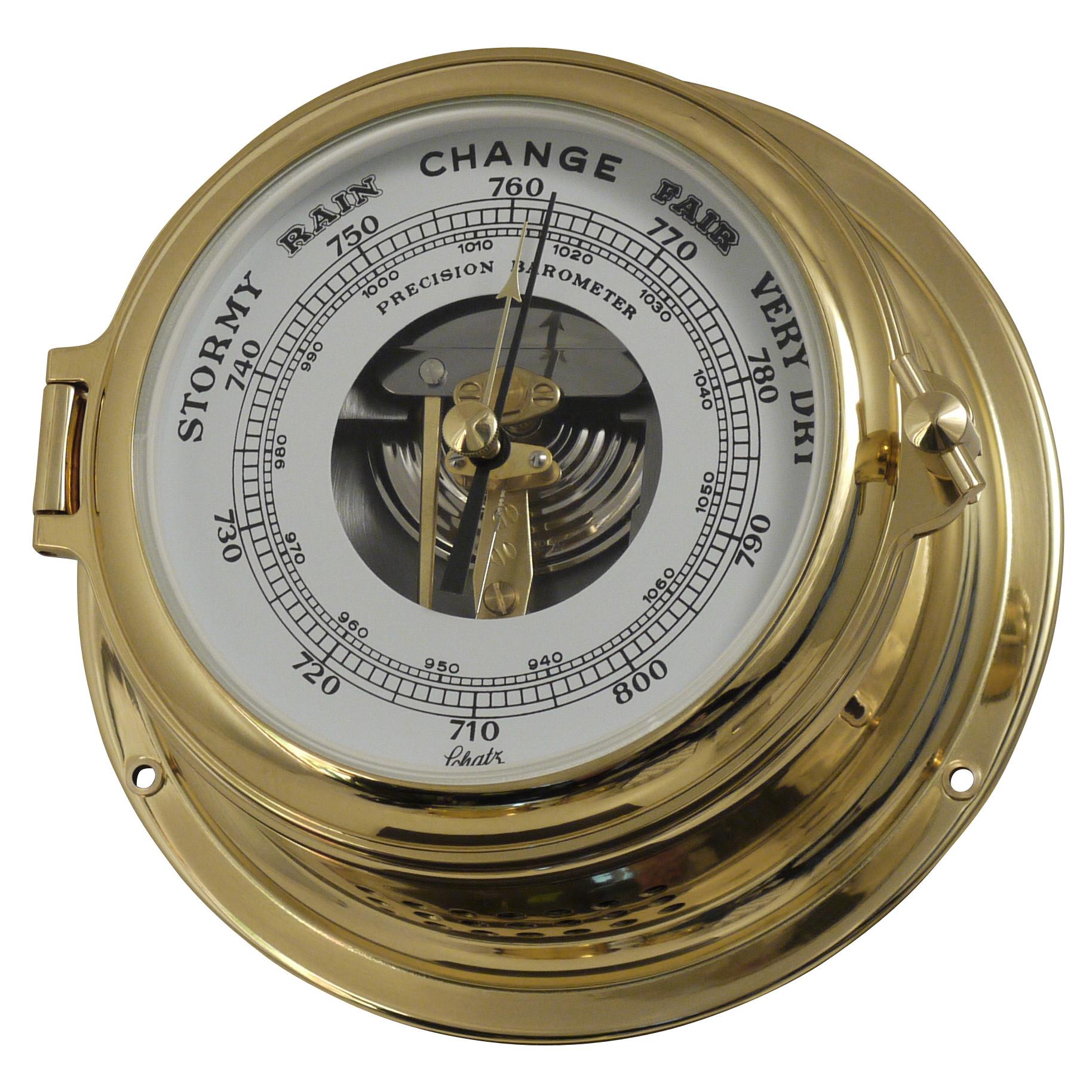 Schatz barometer med åben skive