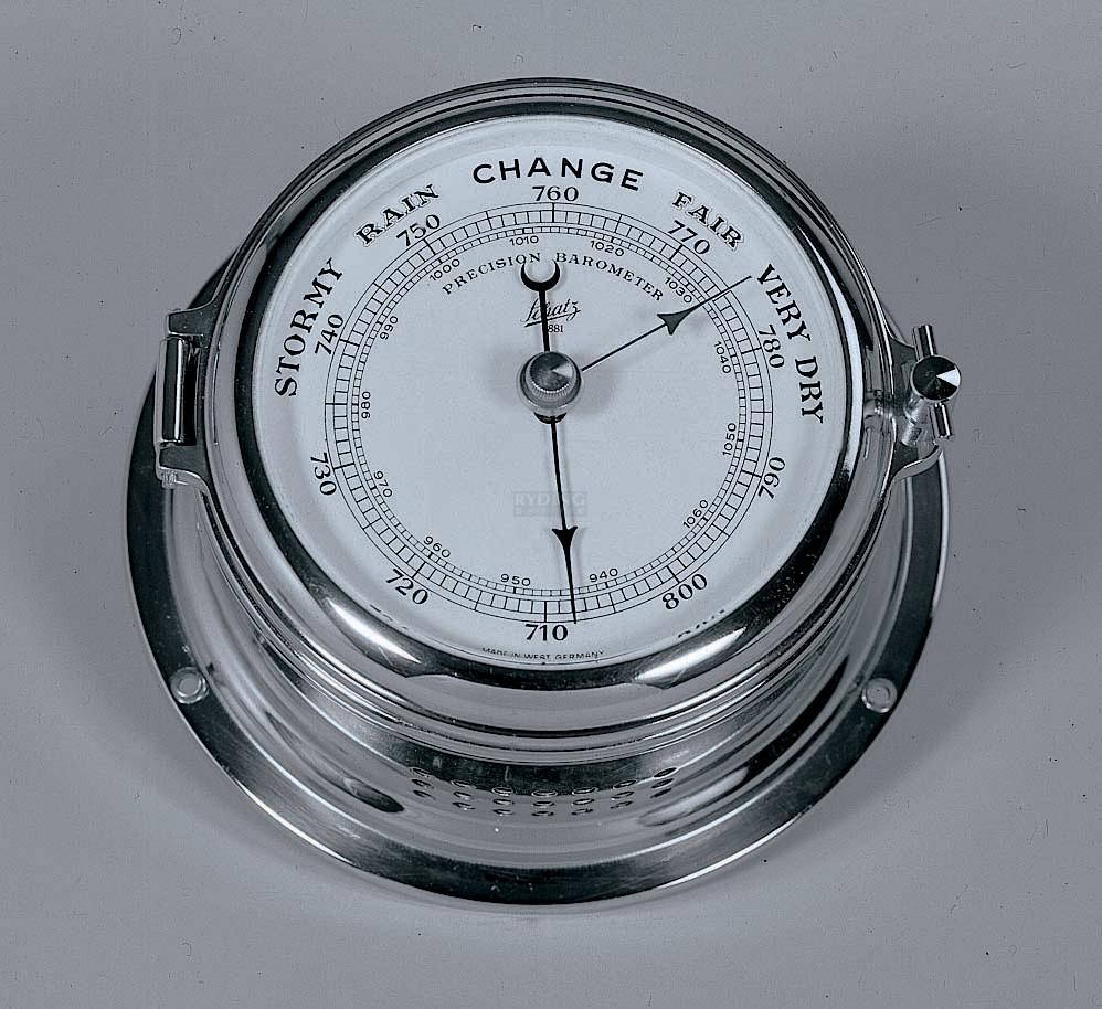 Schatz Barometer mm Hg, hPa - forkromet messing