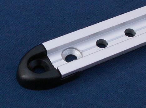 Endestykke 20mm - Sort (delrin)