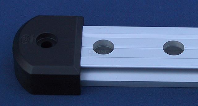 Endestykke 30mm - Sort (delrin)