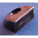 Endestykke 25mm - Sort (delrin)